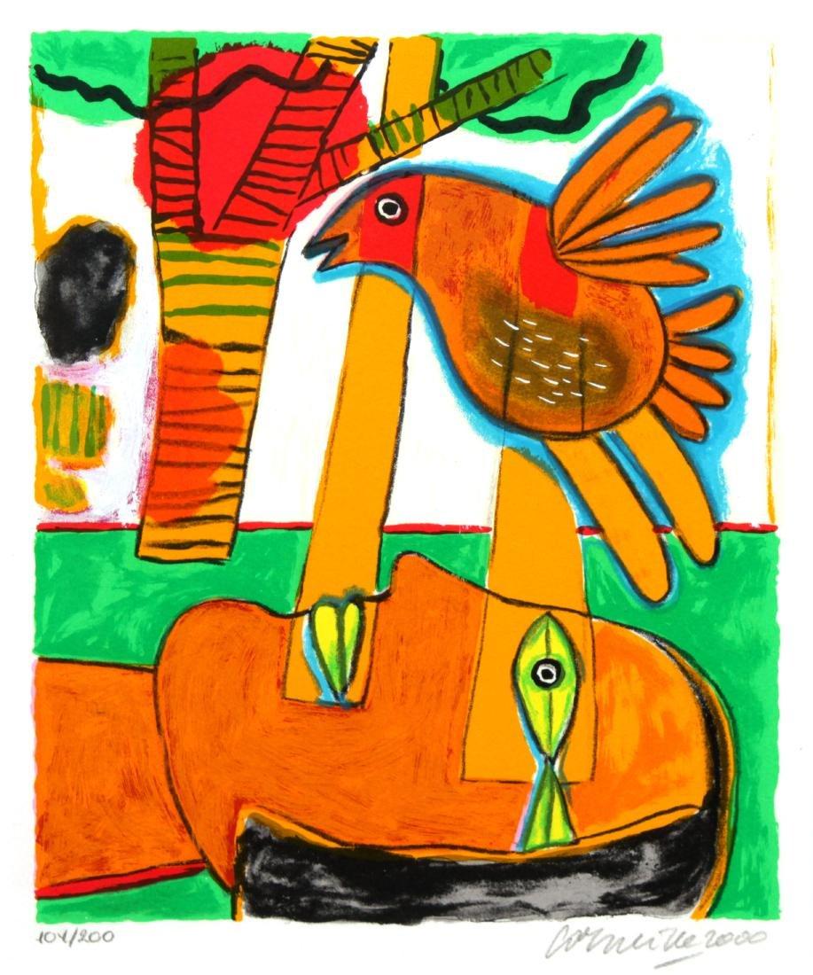Corneille - Tete pensive soleil rouge