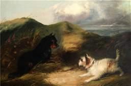 J. Langlois - Untitled Landscape Original Oil Painting