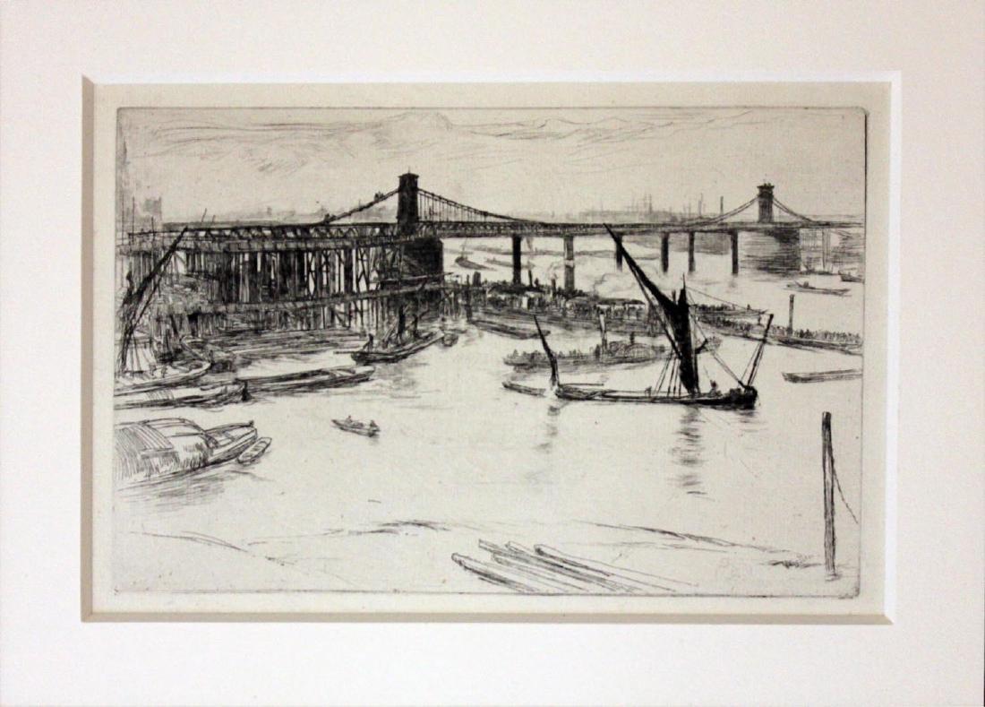 """James Abbott McNeill Whistler """"Old Hungerford Bridge"""""""