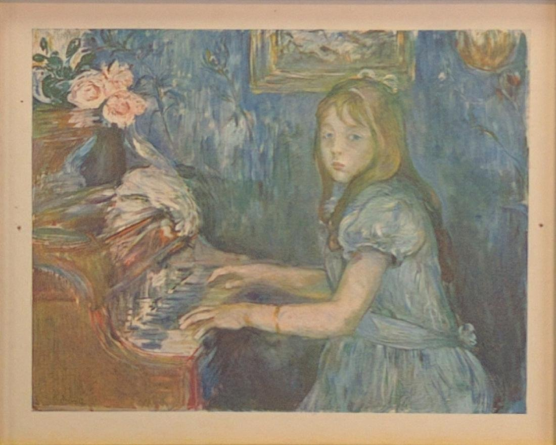 "Berthe Morisot (After) ""Jeune Fille Au Piano"" - 2"