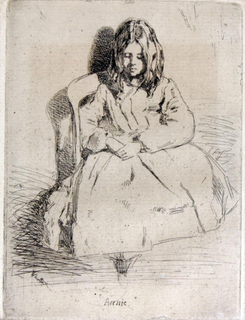 James Abbott McNeill Whistler - Annie Seated