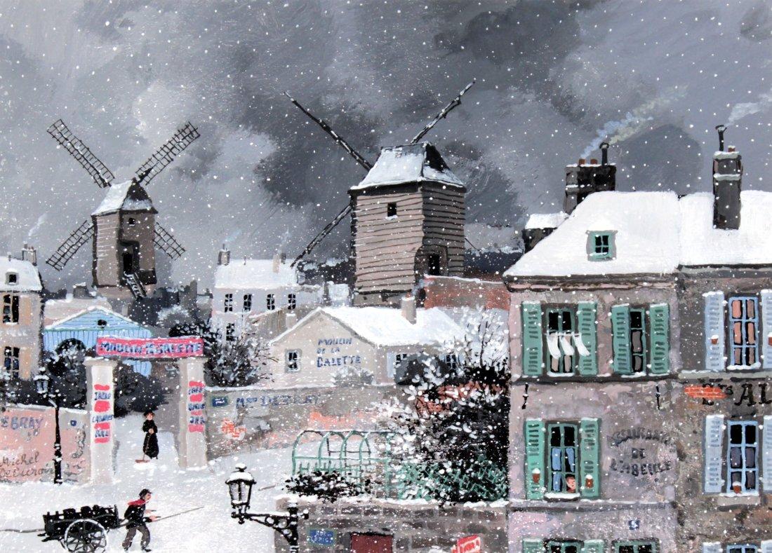 Michel Delacroix - Tempete de neige a Montmartre