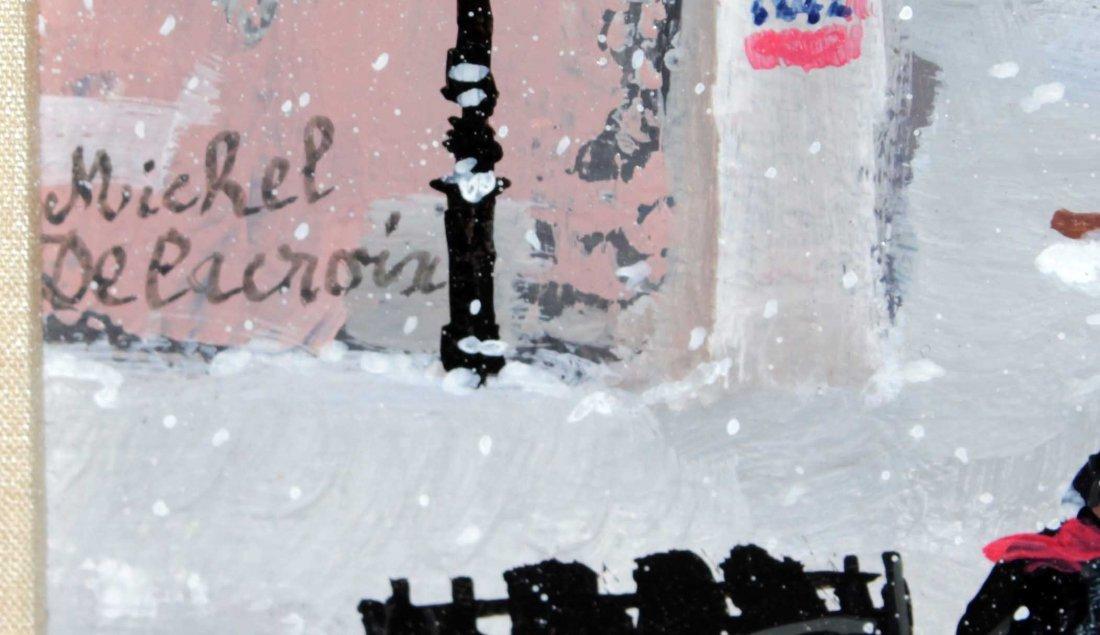 Michel Delacroix - Tempete de neige a Montmartre - 2