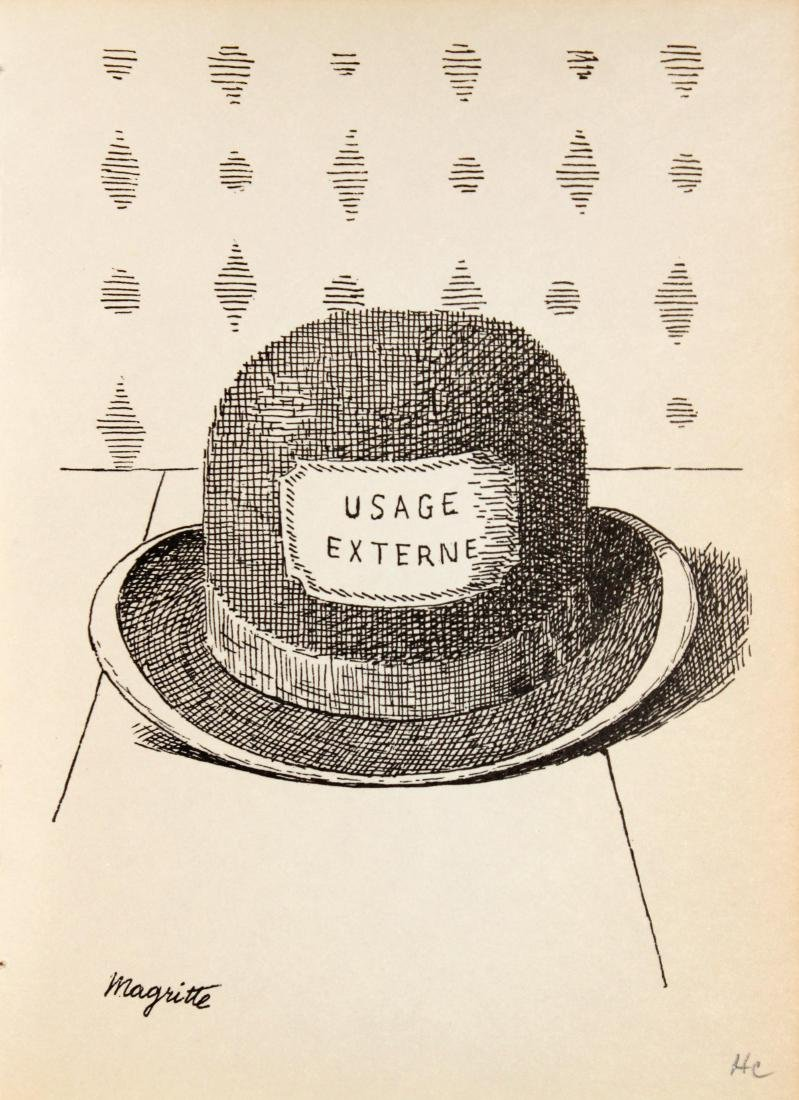 Rene Magritte - Untitled (Bowler Hat)