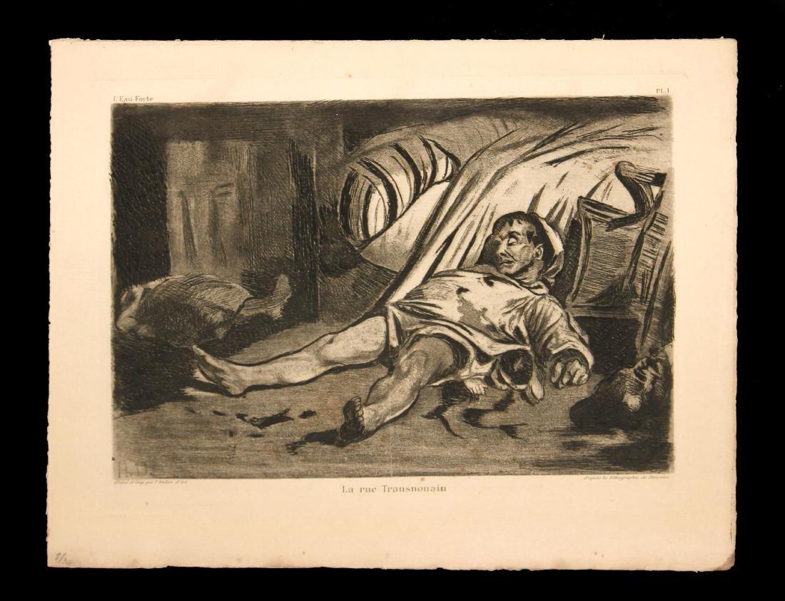 Honore Daumier - La Rue Transnonain