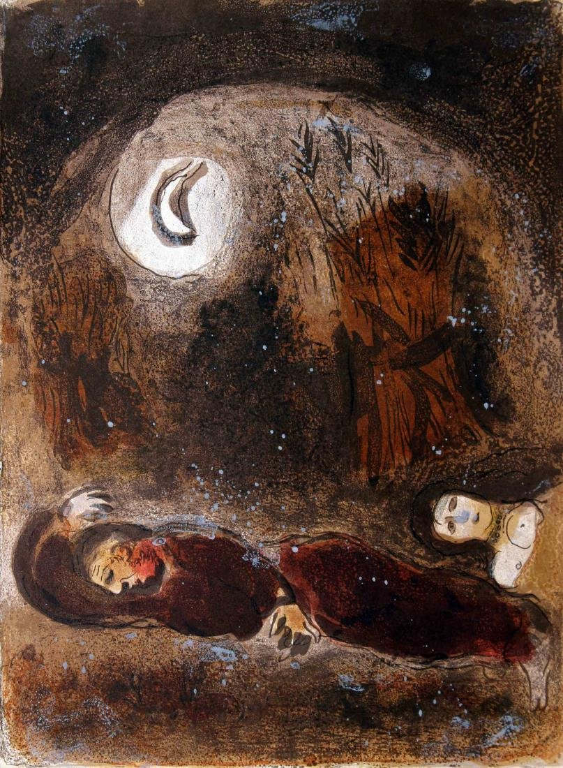 Marc Chagall - Ruth at the Feet of Boaz