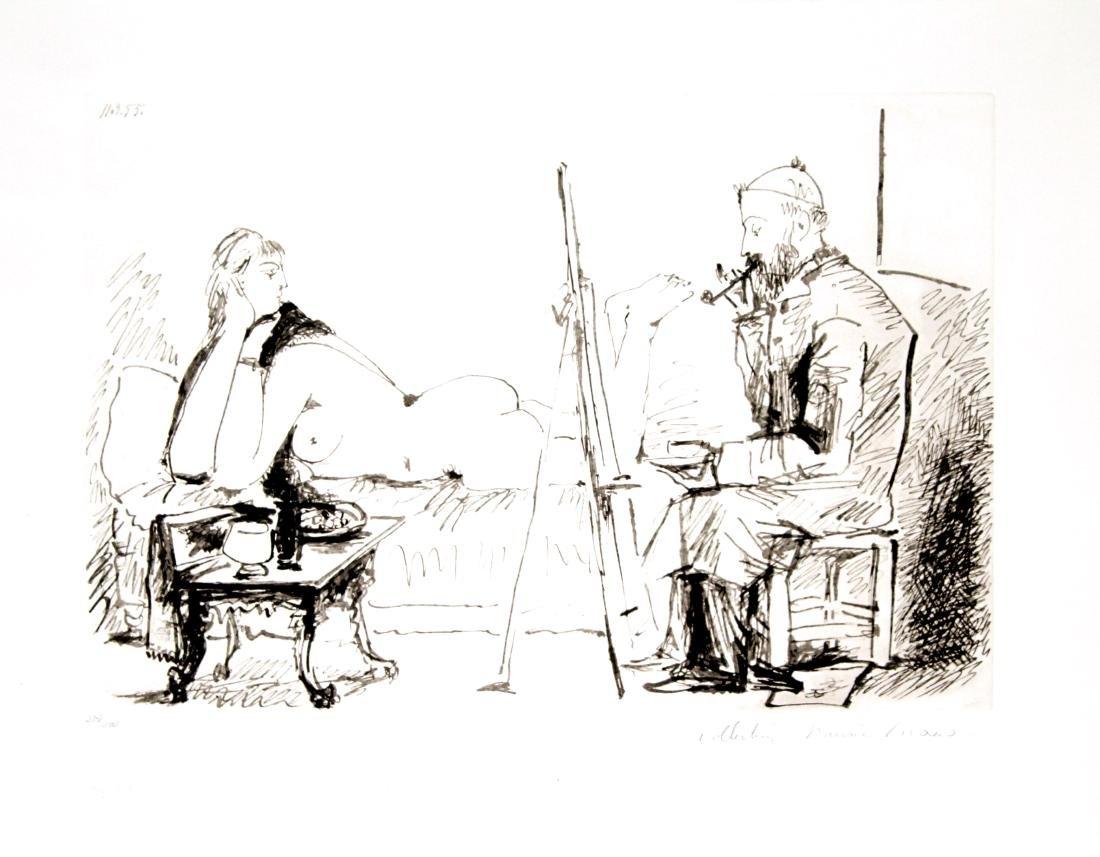 Pablo Picasso (After) - La Peintre et son Modele