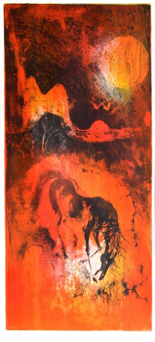 Hoi Lebadang - Untitled Horse Lithograph