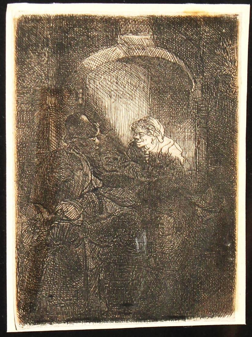 Rembrandt van Rijn - The Schoolmaster (2nd State)