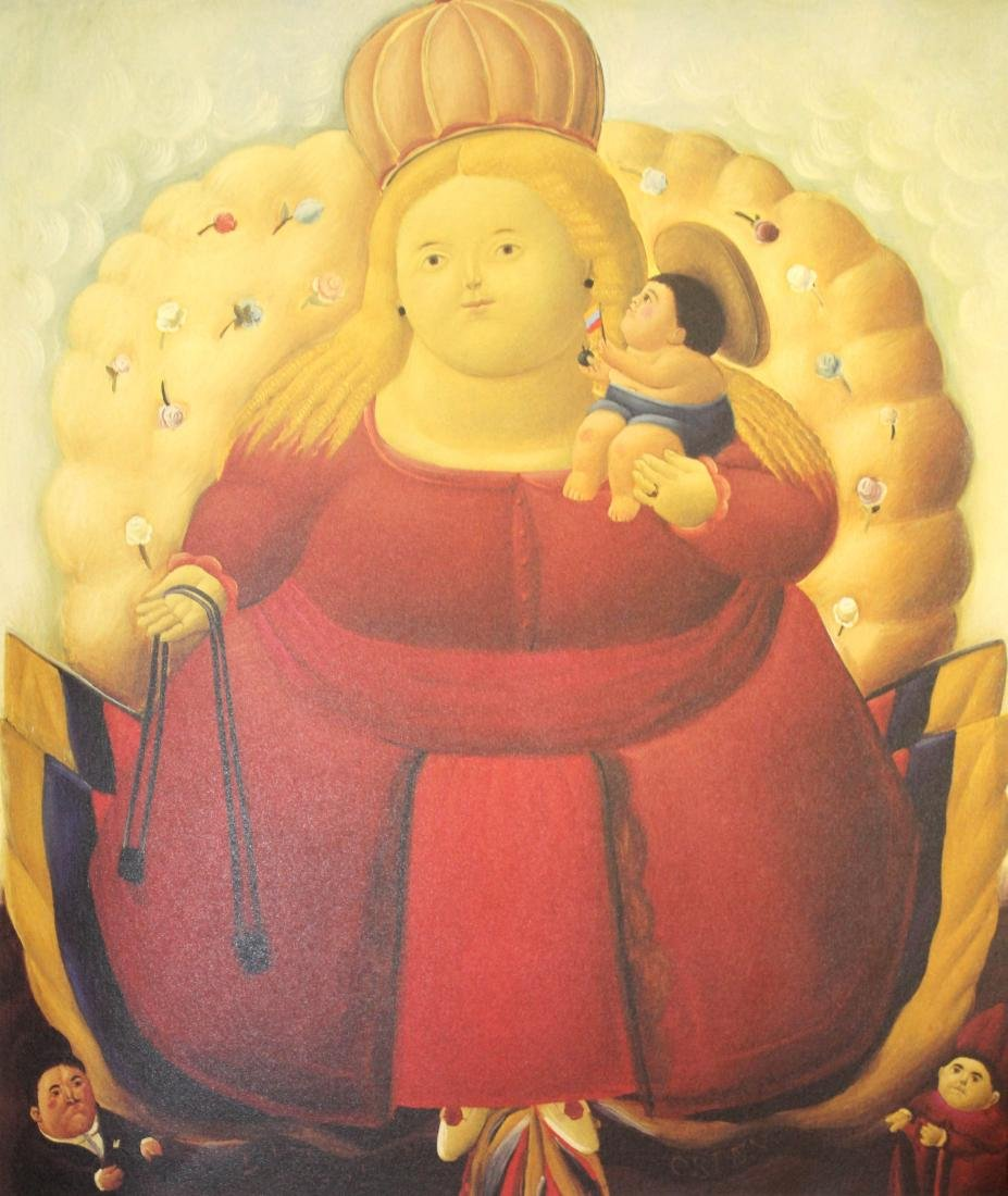 Fernando Botero  - Our Lady of Columbia