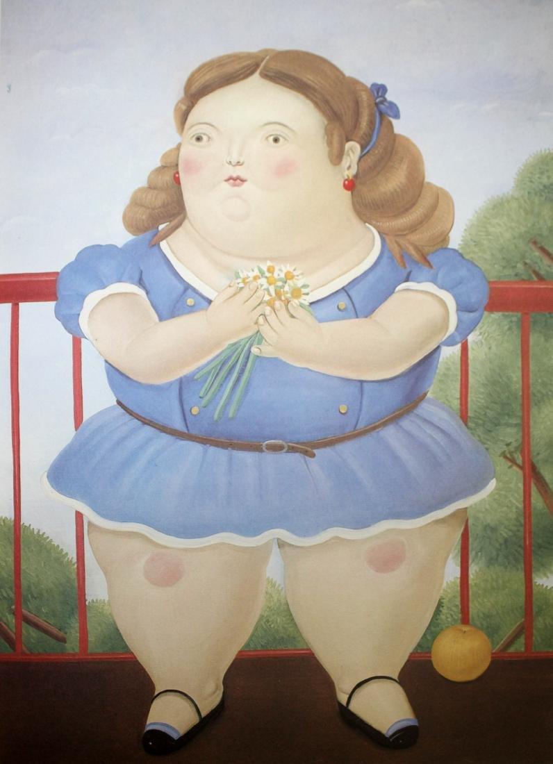 Fernando Botero  - Girl on a Balcony