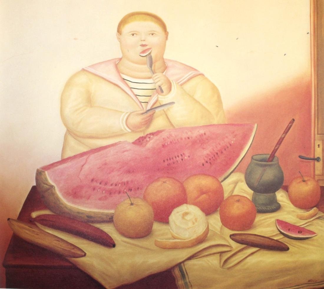 Fernando Botero  - Boy Eating a Watermelon
