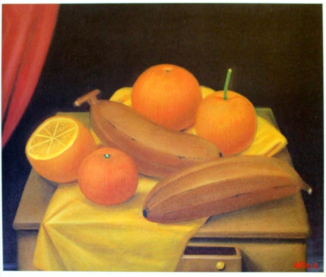 Fernando Botero (after) - Oranges and Bananas