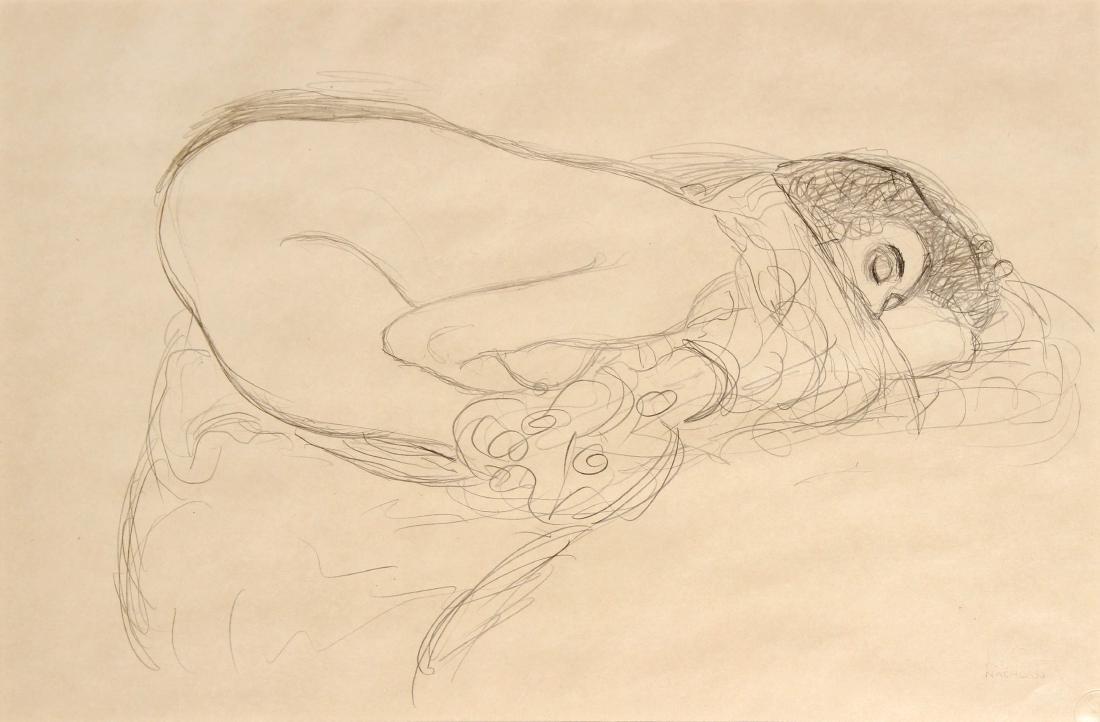 Gustav Klimt - Sleeping Nude