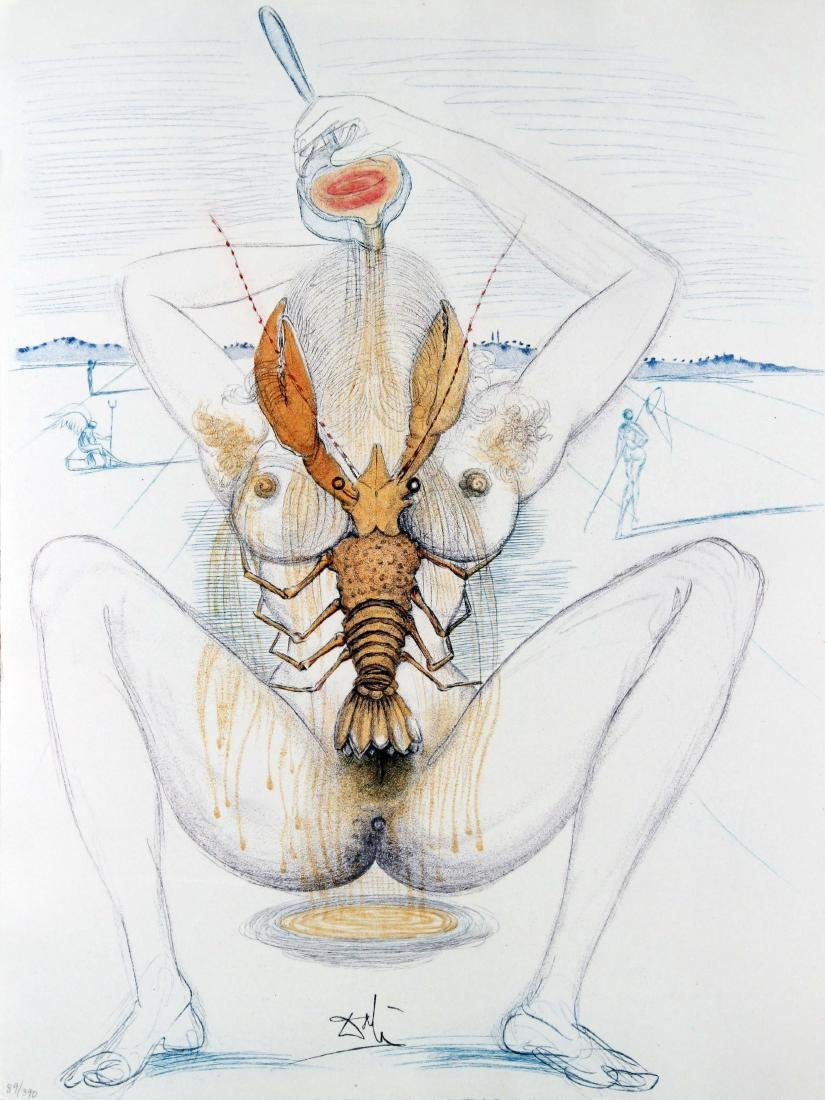 Salvador Dali - Nude and Lobster