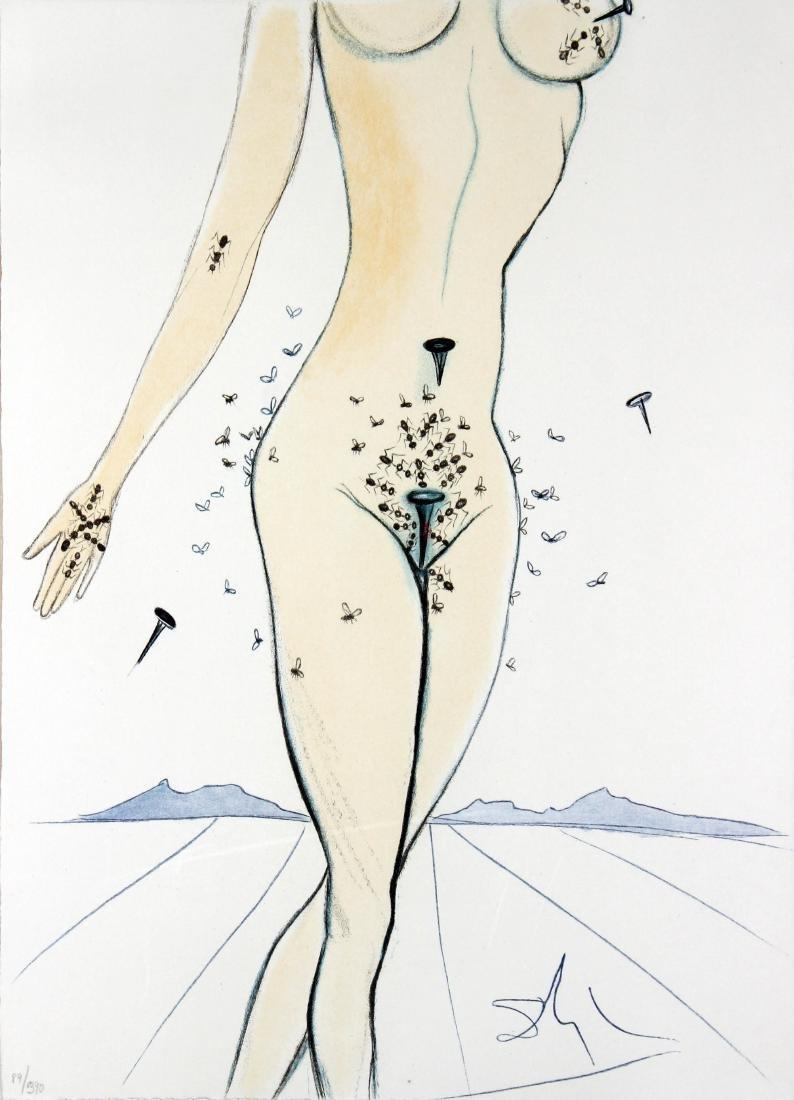 Salvador Dali - Ants Nails & Flies on Nude