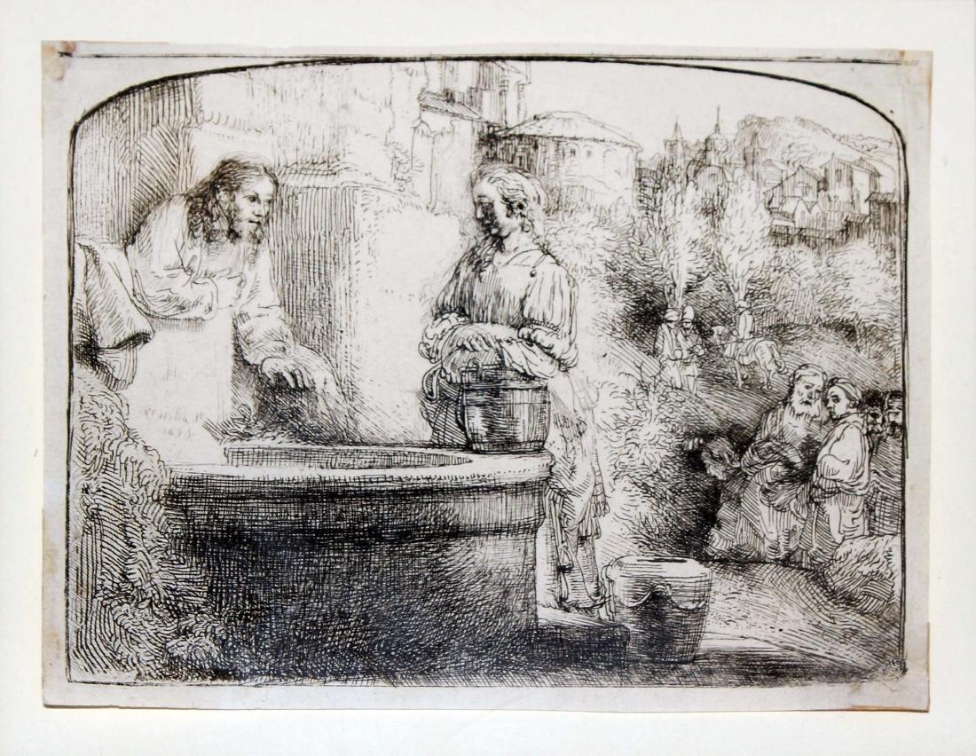 Rembrandt van Rijn - Christ and the Woman of Samaria
