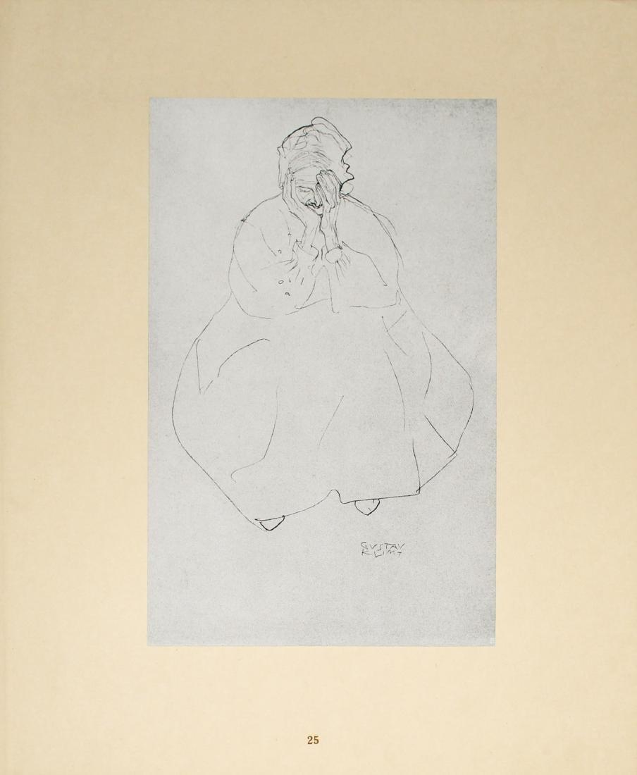 Gustav Klimt - Sissende alte Frau