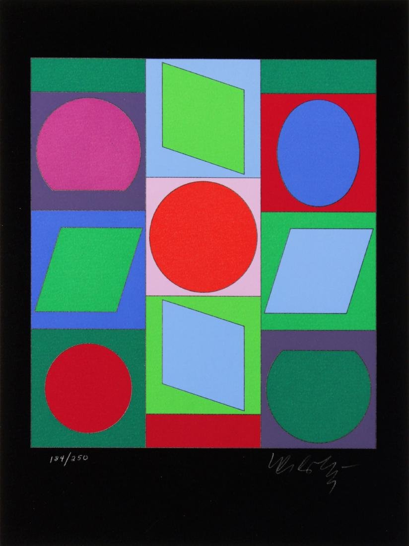 Victor Vasarely - Untitled Abstract #6
