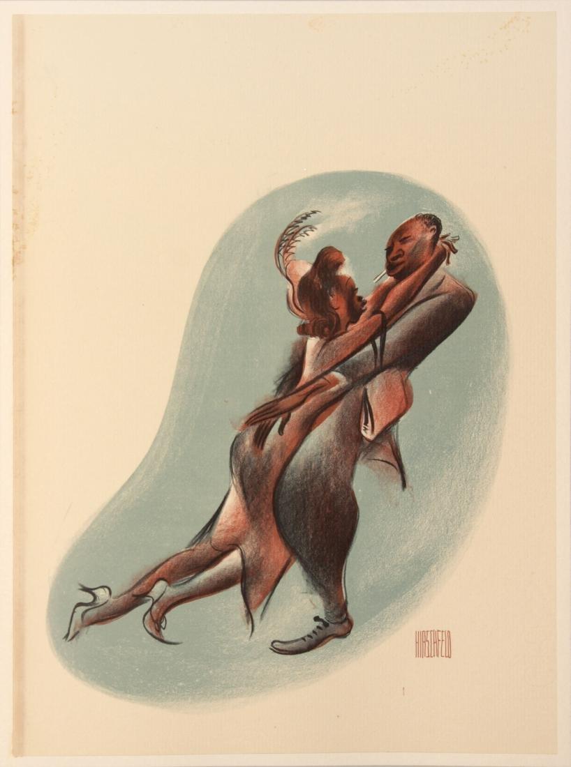 Al Hirschfeld - Scufflin' In