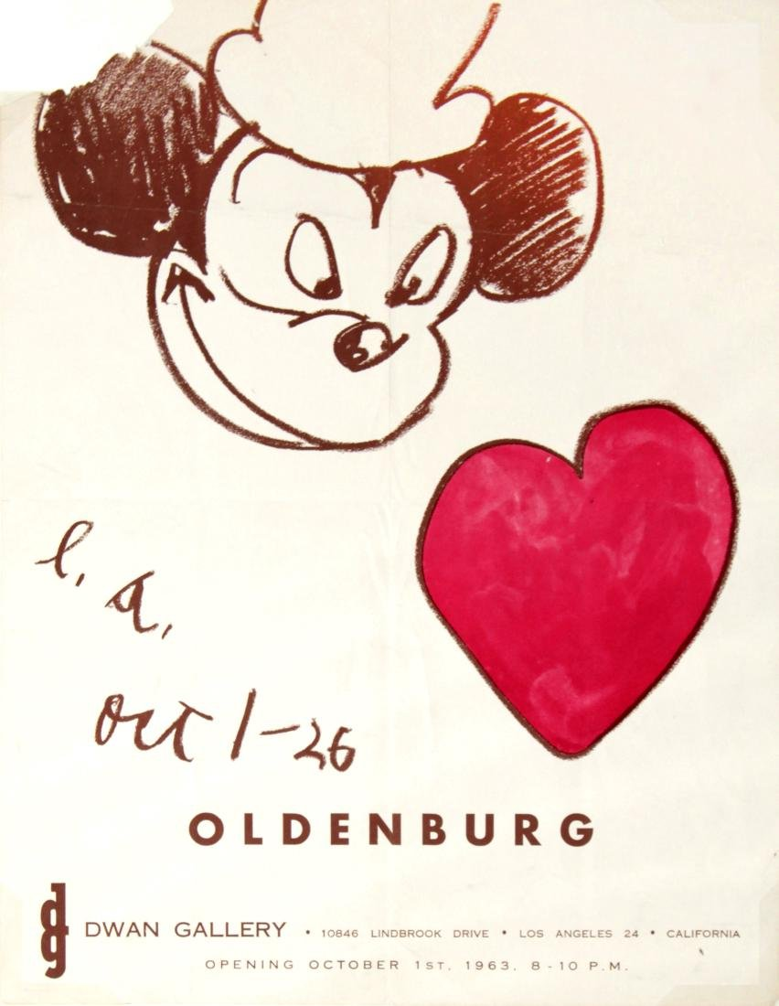 Claes Oldenburg - 1-26 OCtober 1963 Dwan Gallery Poster