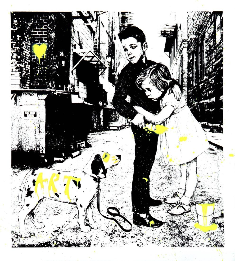 Mr. Brainwash - Pup Art (Yellow)
