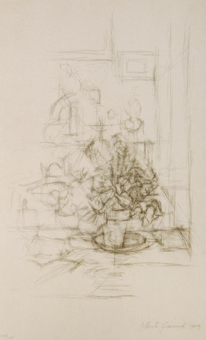 Alberto Giacometti - Vaso con pianta