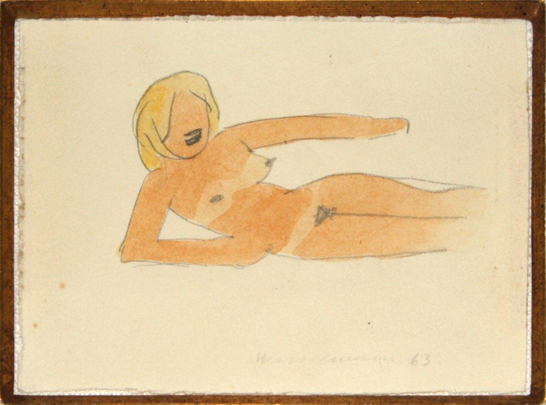 Tom Wesselmann - Drawing for G.A.N. #48