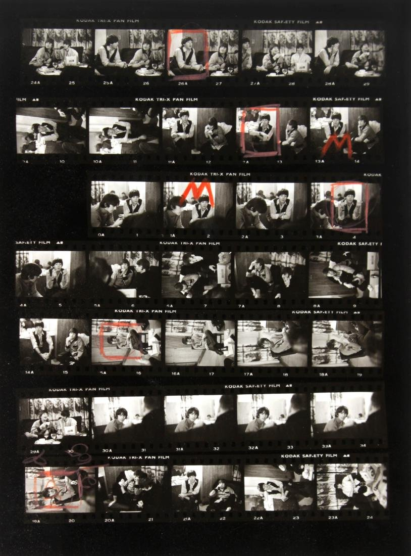 Dennis Cameron - The Beatles Playboy Contact Sheet
