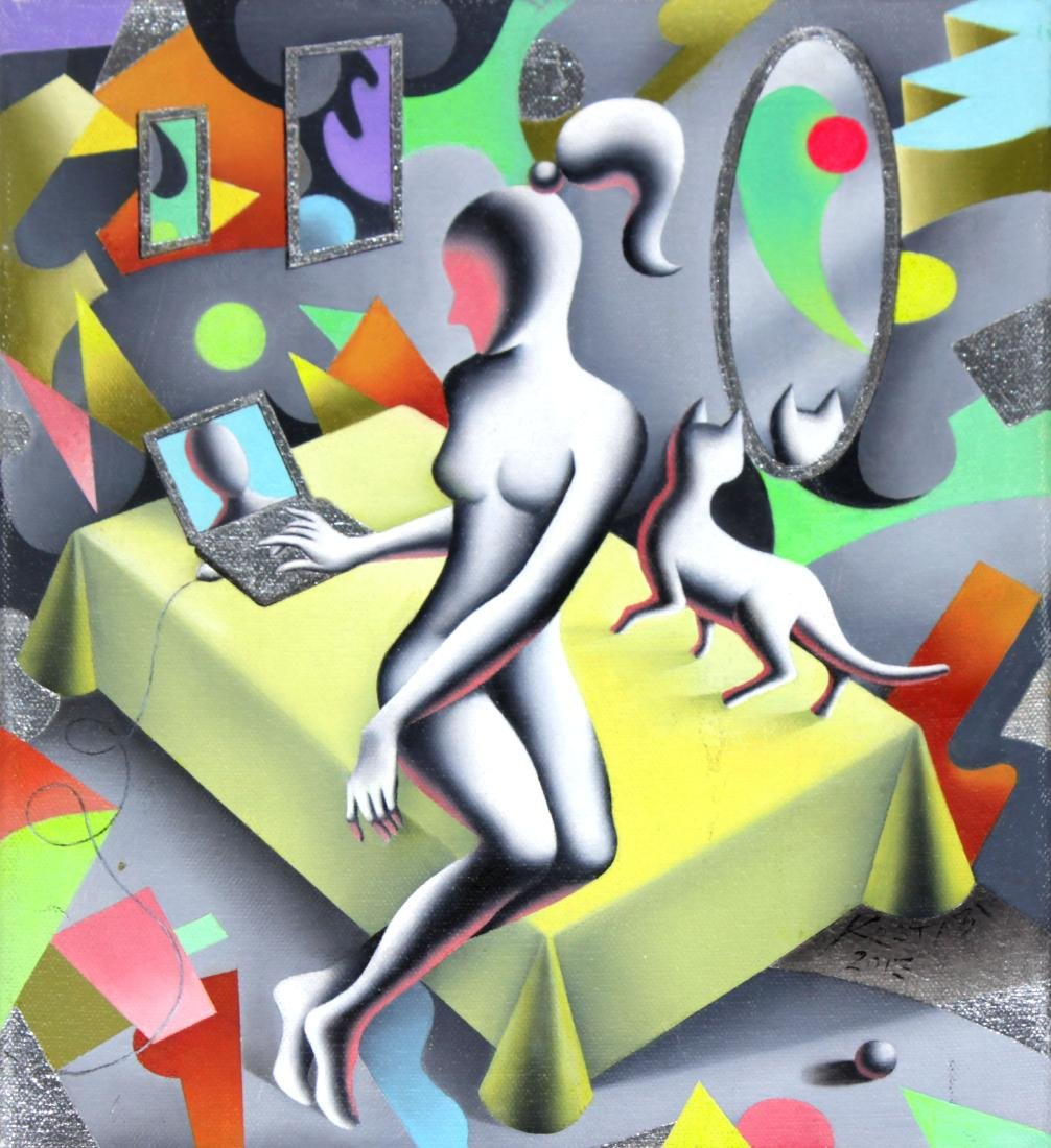 Mark Kostabi - Shopping for Friends