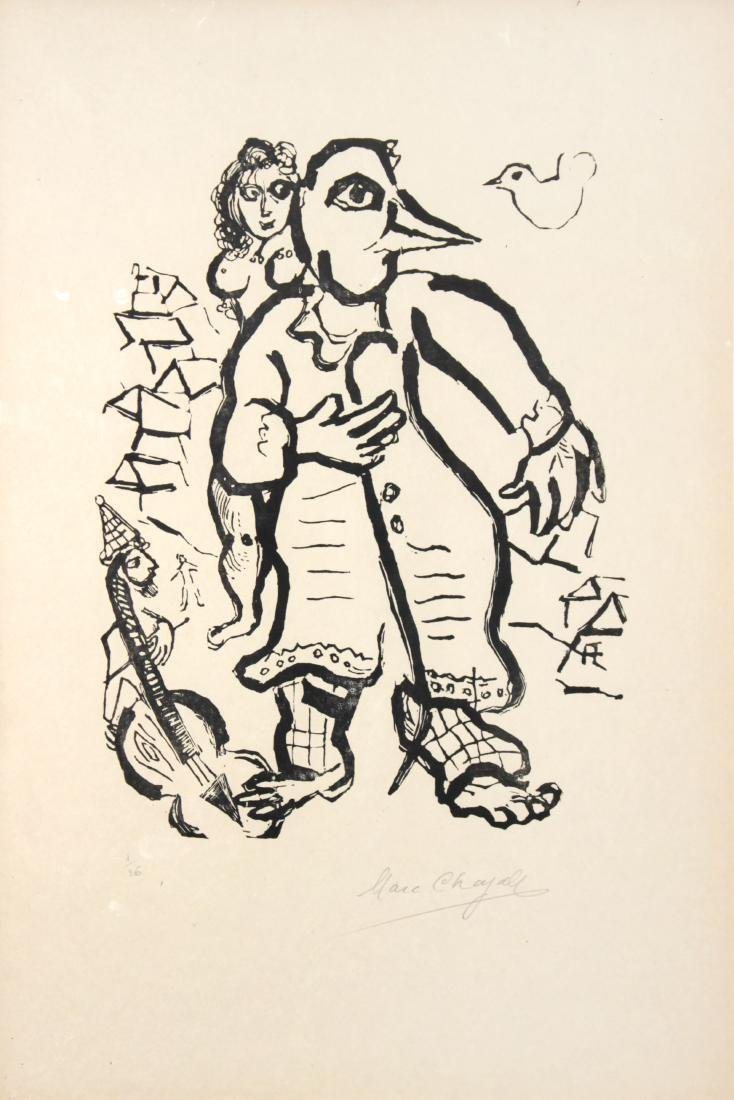 """Marc Chagall - Plate 20 from """"Poemes"""""""