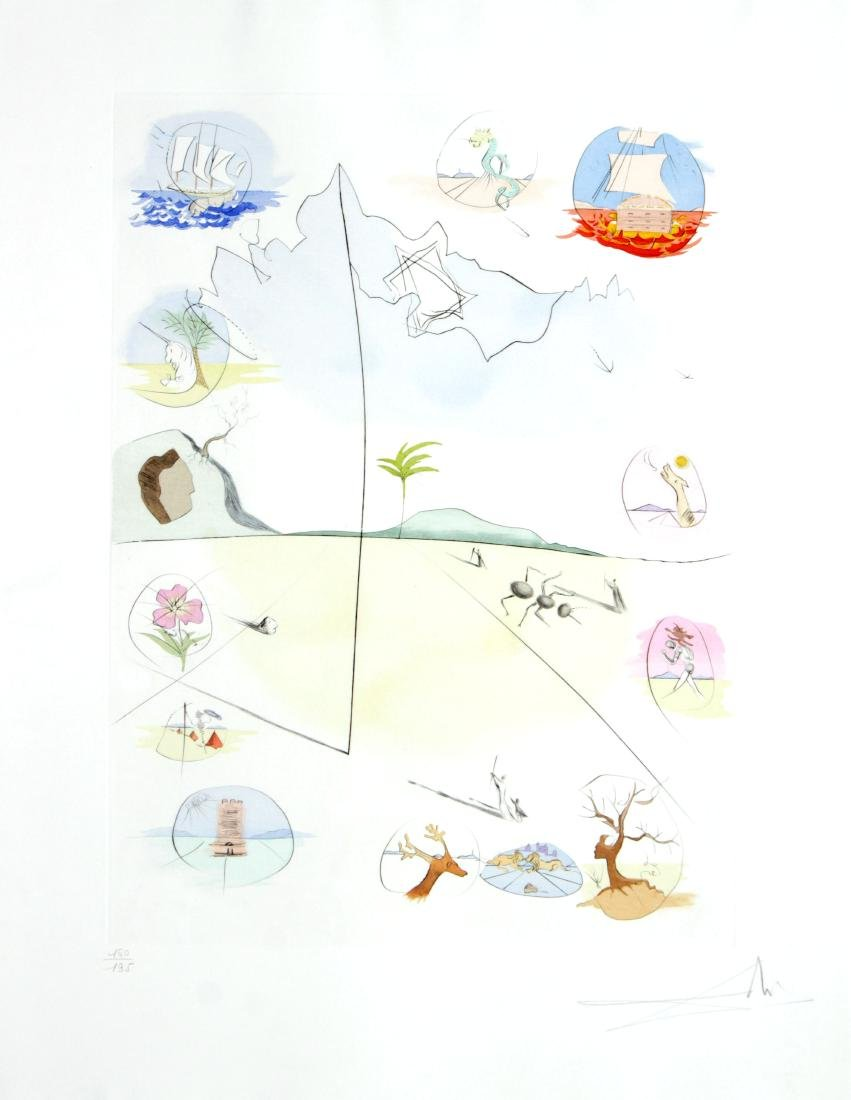 """Salvador Dali - Frontispiece from """"The Twelve Tribes of"""