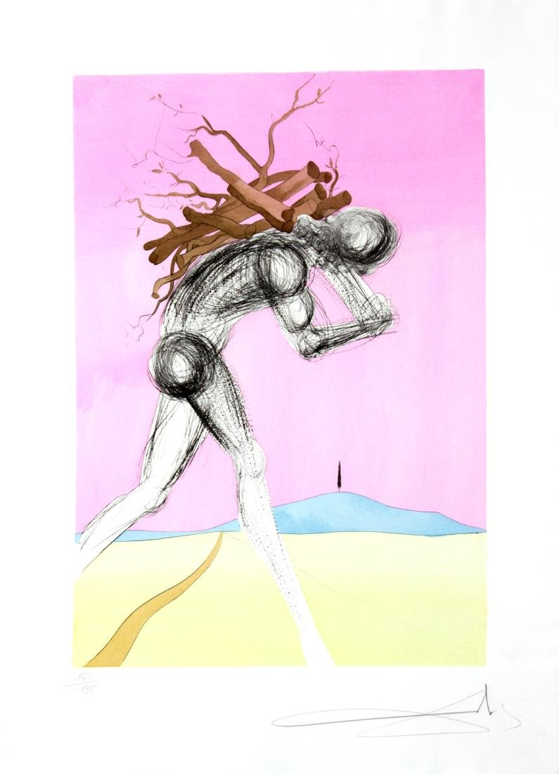 """Salvador Dali - Issachar from """"The Twelve Tribes of"""