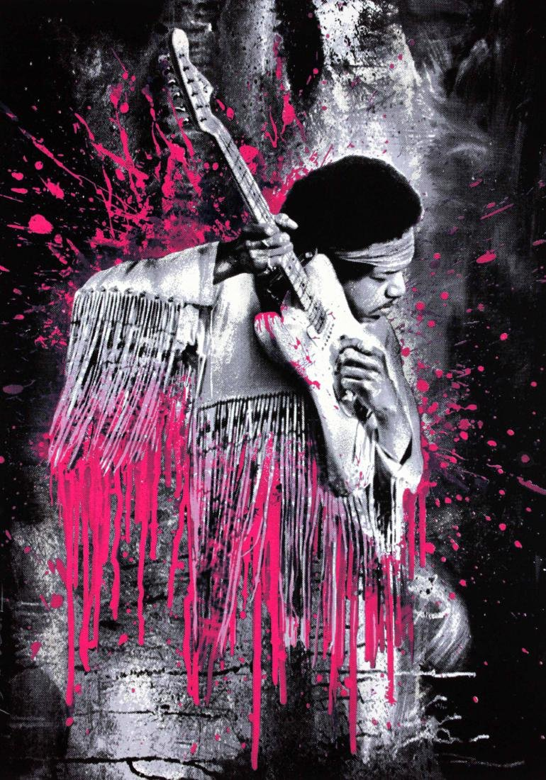 Hendrix (Pink) by Mr. Brainwash