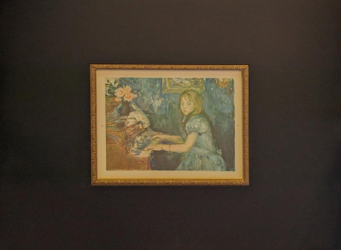 "Berthe Morisot (After) ""Jeune Fille Au Piano"""