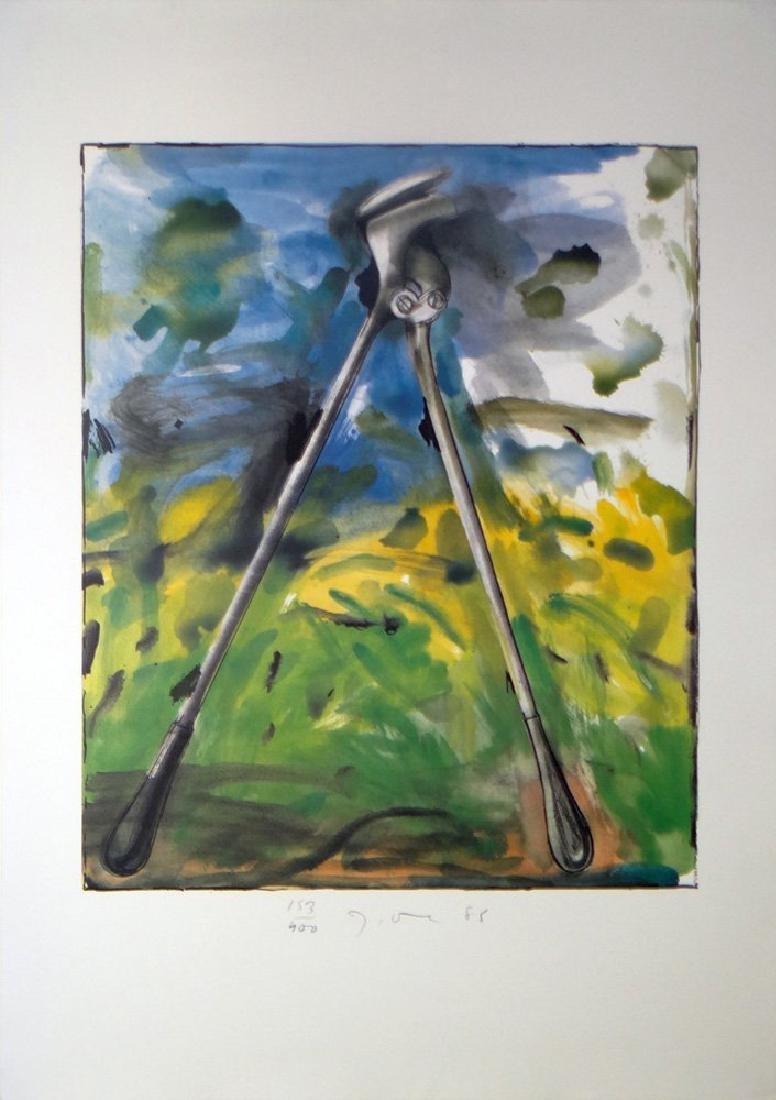 """Jim Dine """"Astra Tool"""" Original Hand Signed Lithograph"""