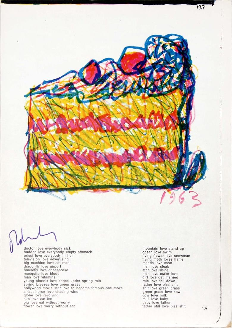 """Slice of Cake from """"One Cent Life"""" by Claes Oldenburg"""