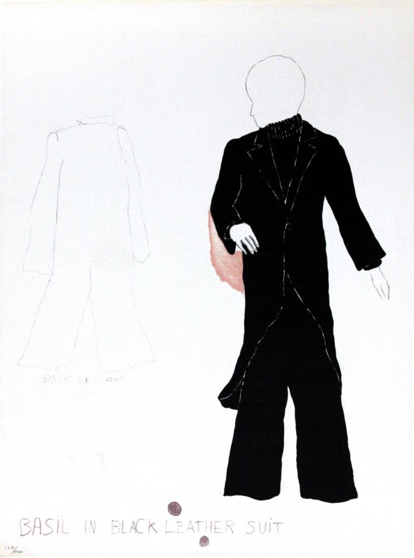 Basil in Black Leather Suit by Jim Dine