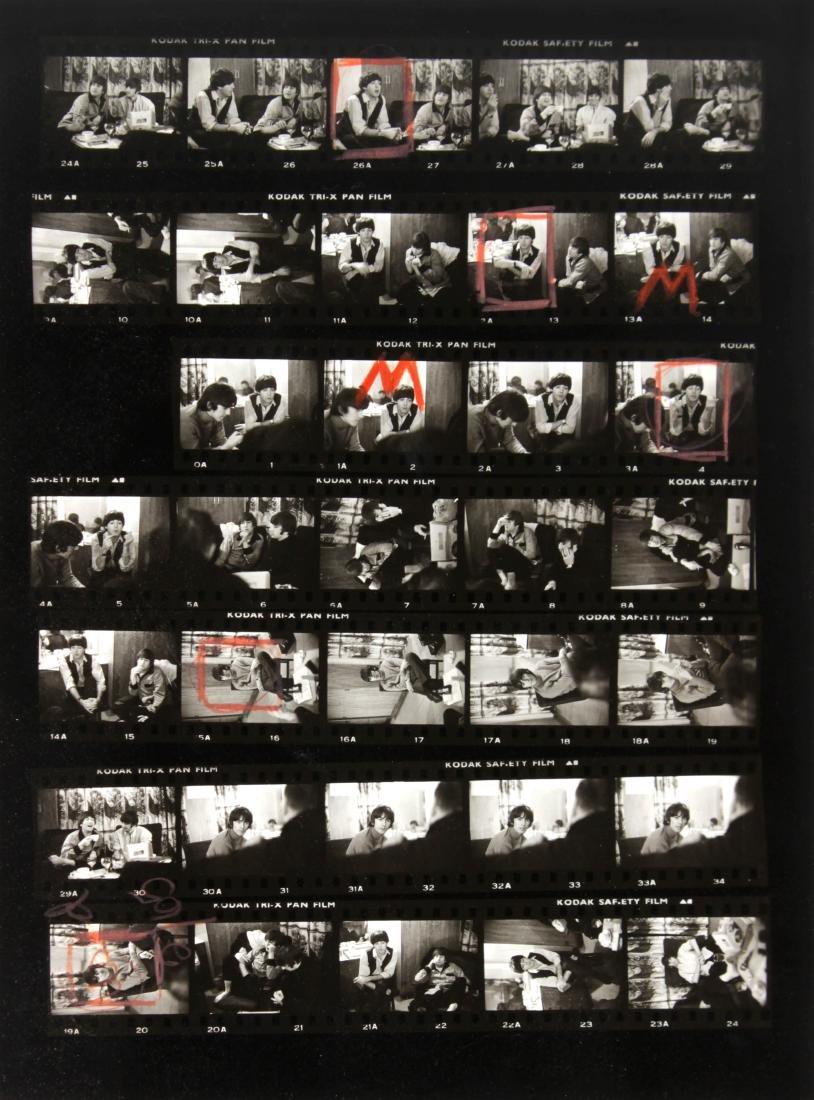 Dennis Cameron - The Beatles Playboy Contact Sheet