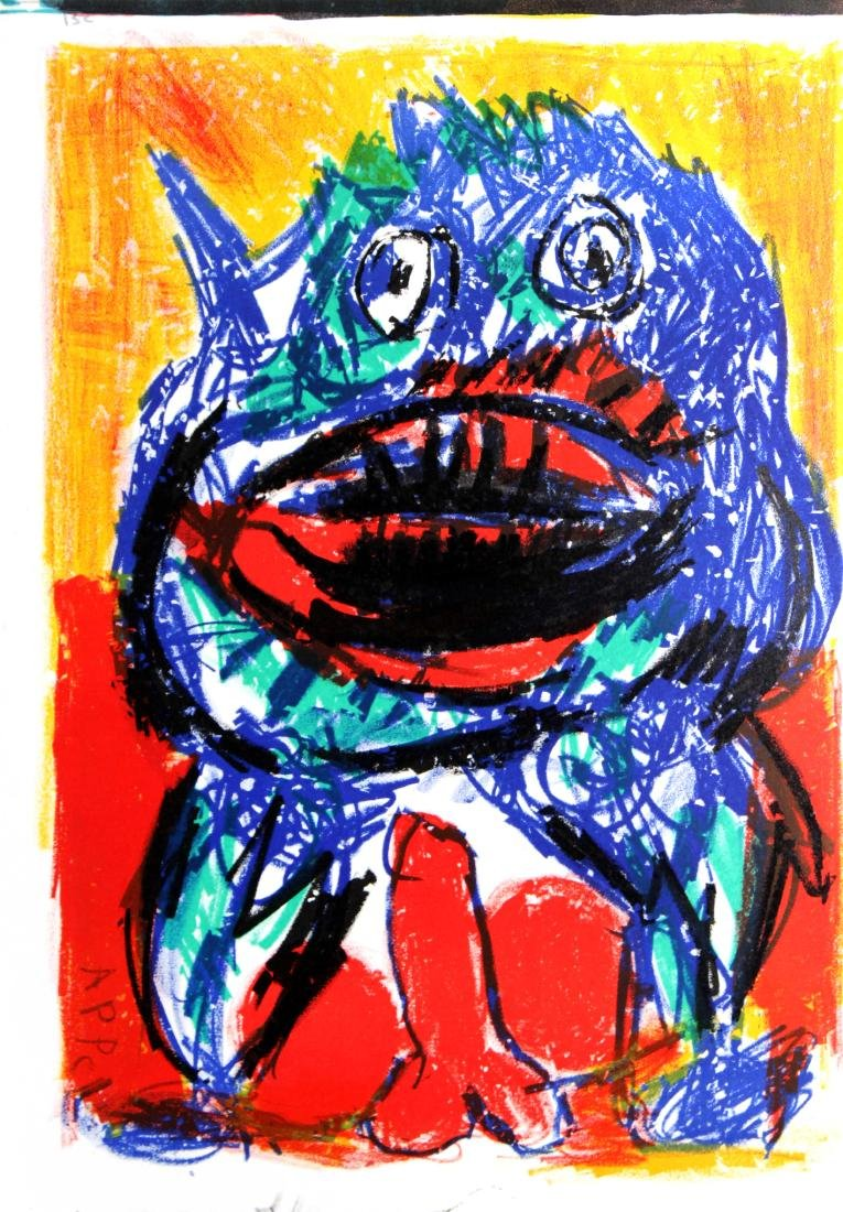 "Karel Appel - Untitled from ""One Cent Life"""