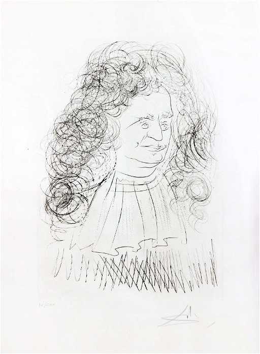 624df6e8552 Salvador Dali - Portrait of La Fontaine