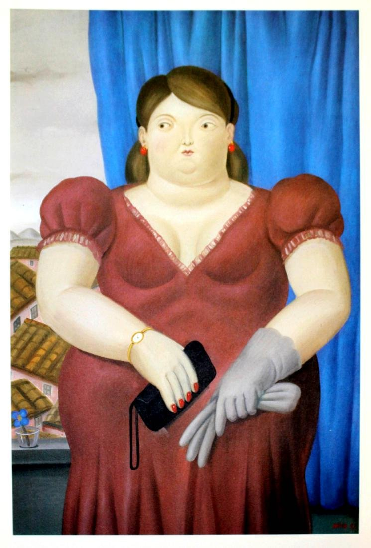 Fernando Botero (after) - Woman in Front of a Window