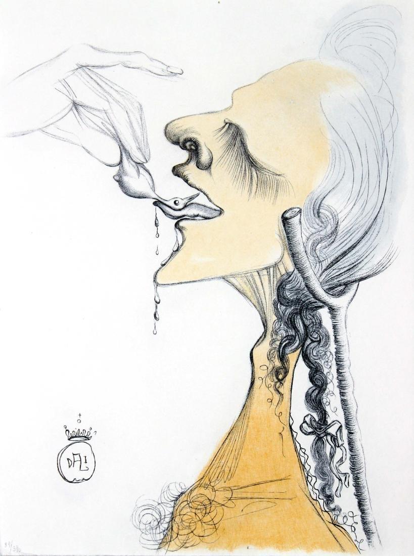 Salvador Dali - Bird on Tongue
