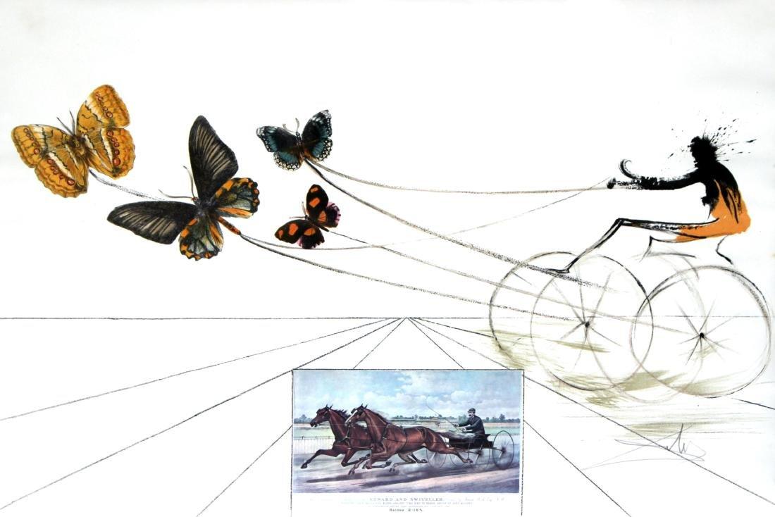 Salvador Dali - American Trotting Horses #1