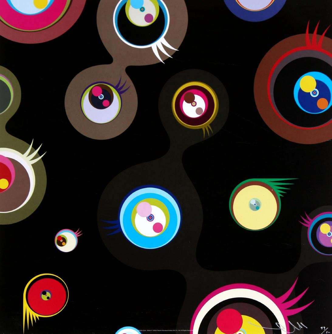 Takashi Murakami - Jellyfish Eyes Black
