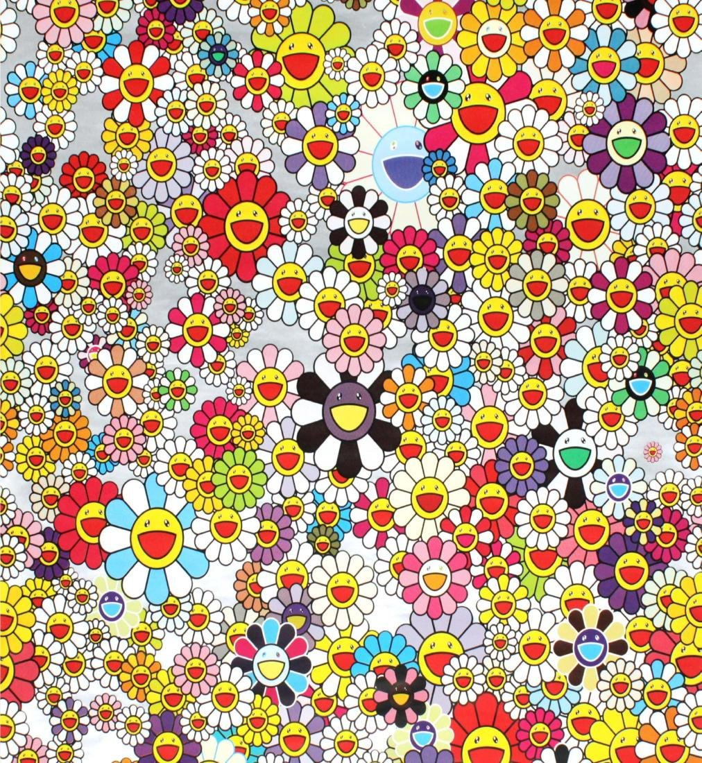 Takashi Murakami - Cosmos Wallpaper (2.5 ft section)