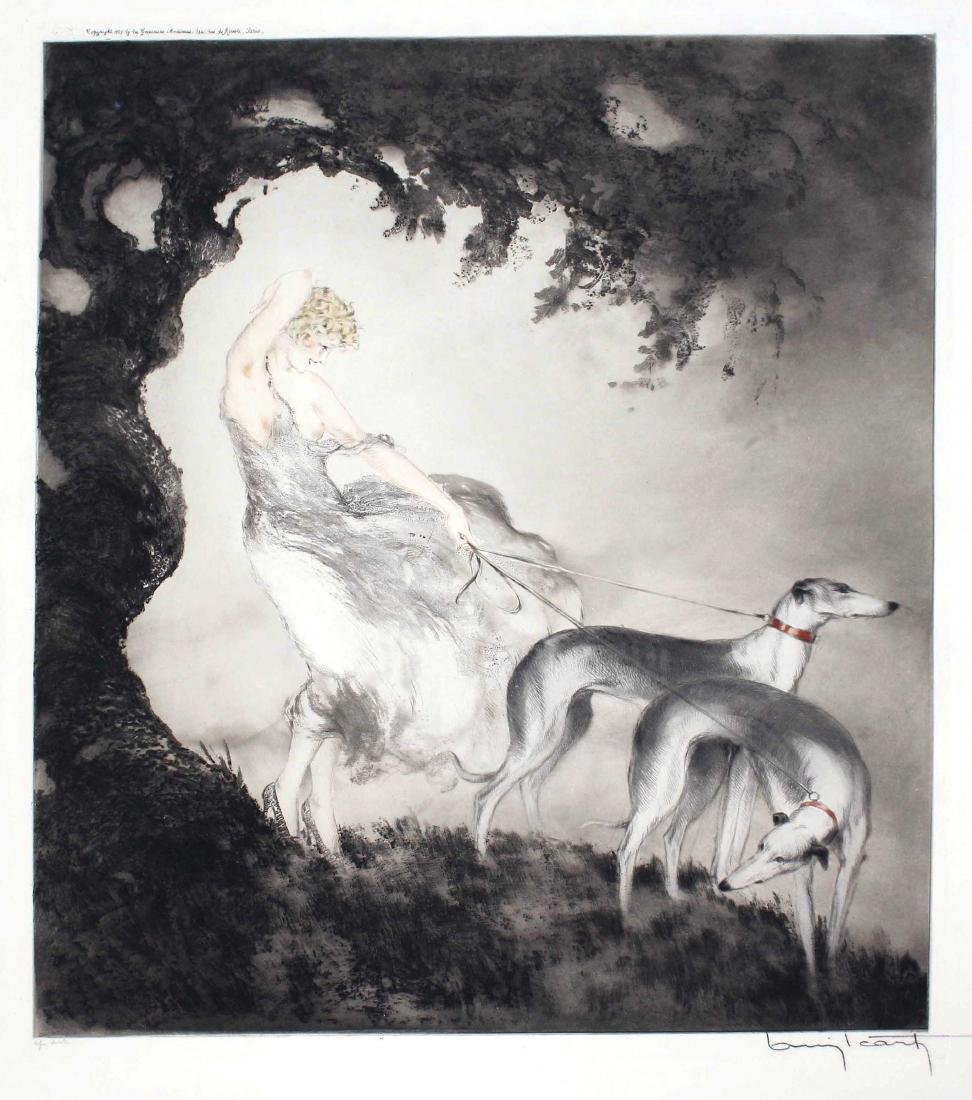 Louis Icart - Gust of Wind
