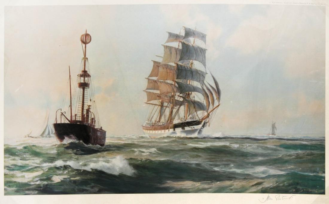 John Stobart - Invercargill Passing the Nore Lightship