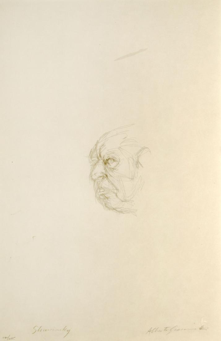 Alberto Giacometti - Testa di Igor Strawinsky