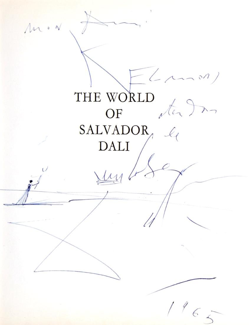 Salvador Dali - Dedicatory Drawing from The World of